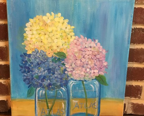 Hydrangeas Painting by Gail Tefft