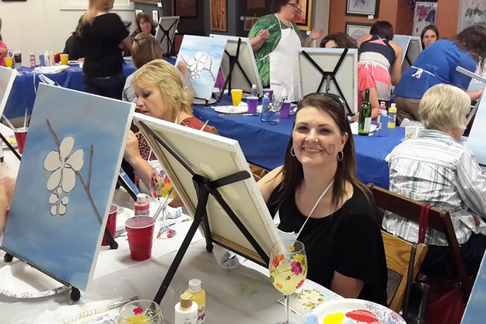 Smiles at Cocktails & Painting Party