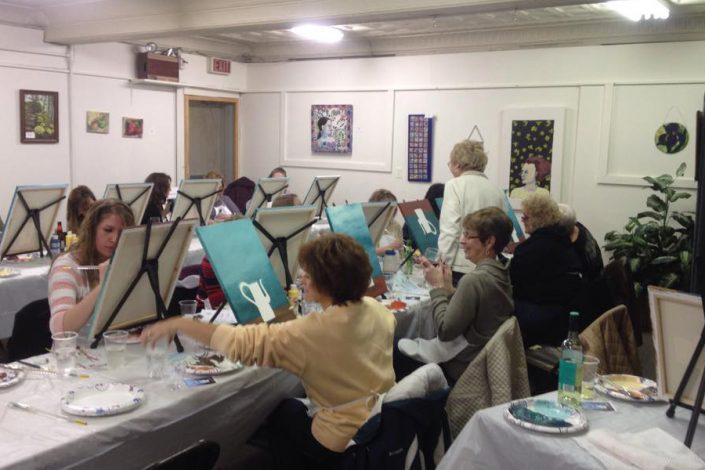 Cocktails & Canvas Painting Party 5