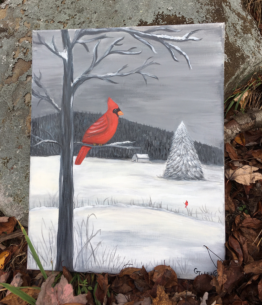 Cardinal's Punch of Color by Gail Tefft Artz ADP