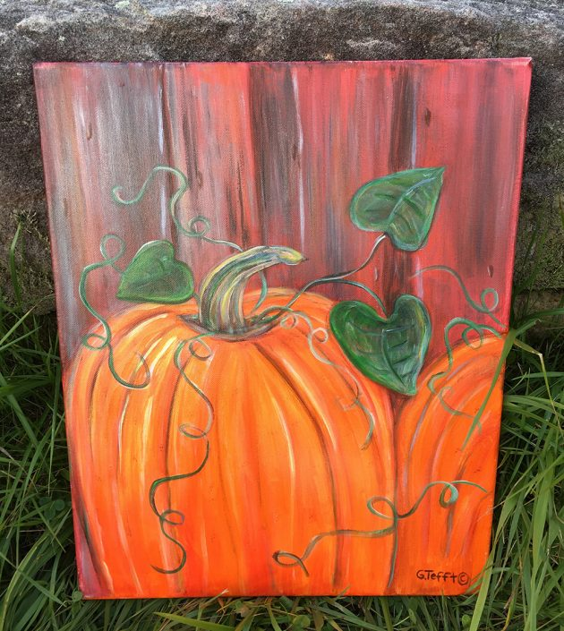 Fall Pumpkins by Gail Tefft Artz ADP