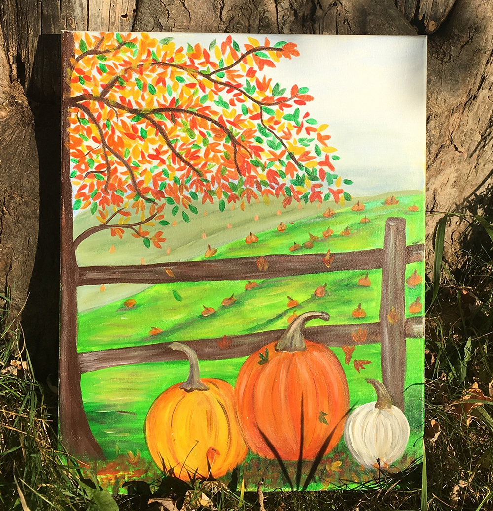 Fall Pumpkins 2 by Gail Tefft Artz ADP