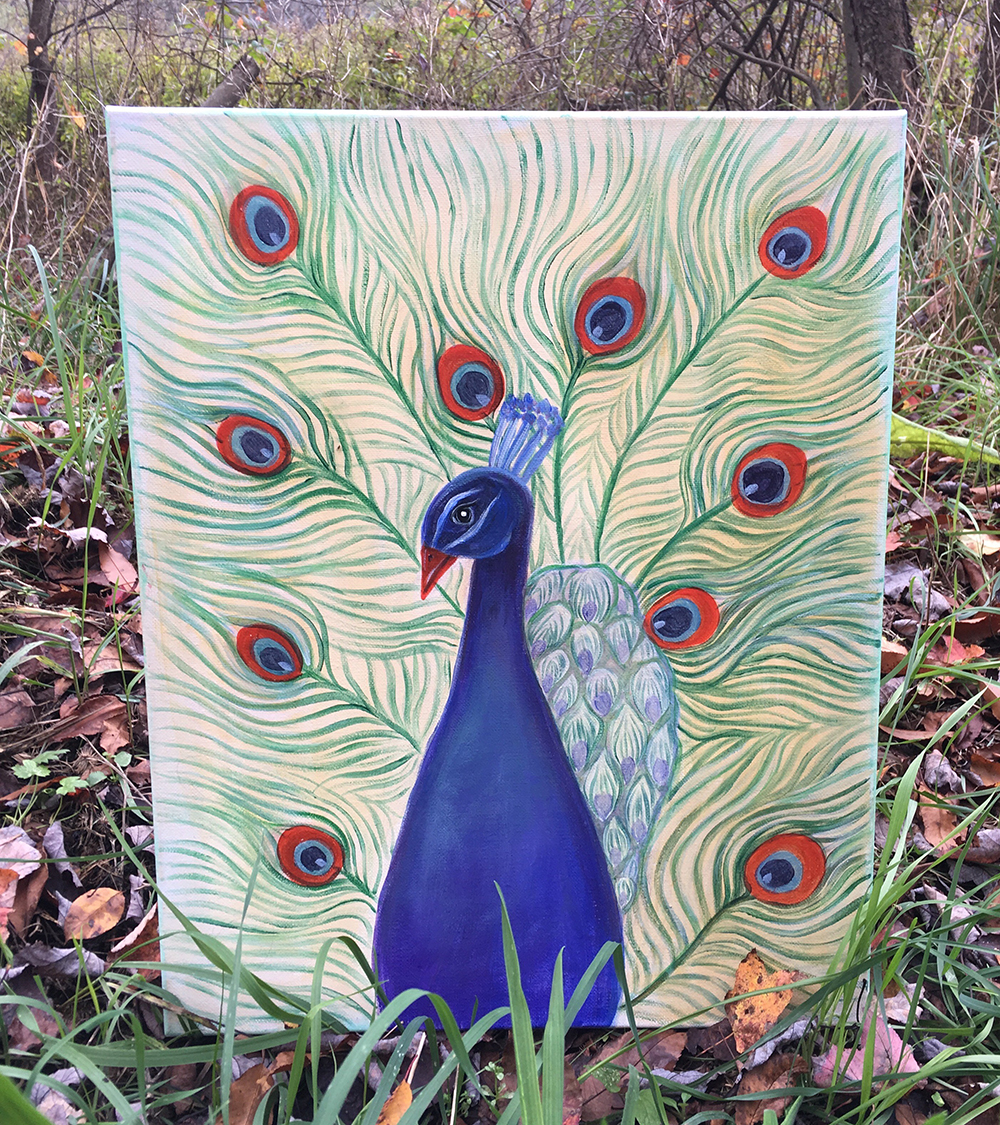 Peacock Show by Gail Tefft Artz ADP