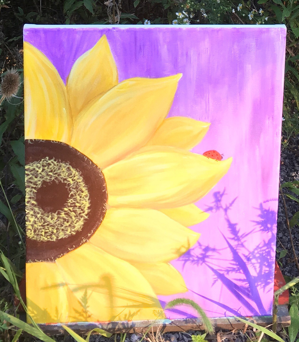 Ray's Yellow Sunflower by Gail Tefft Artz