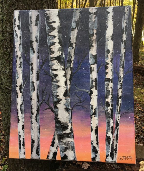 Trees at Dusk by Gail Tefft Artz ADP