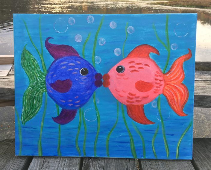 Kissing Fish by Gail Tefft Artz ADP