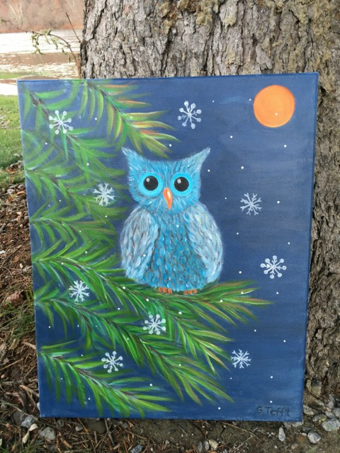 acrylic painting Light Snow by Gail Tefft